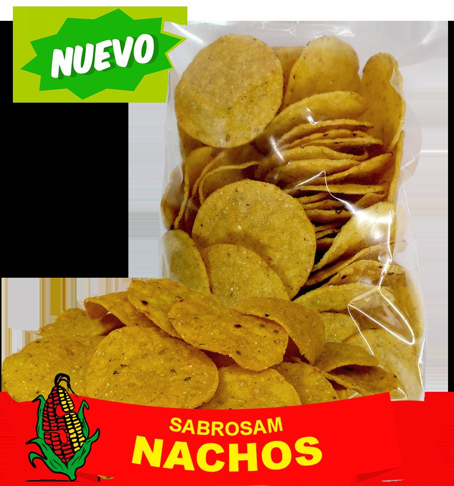Nachos Sabrosam, Harina de maíz con ajonjolí