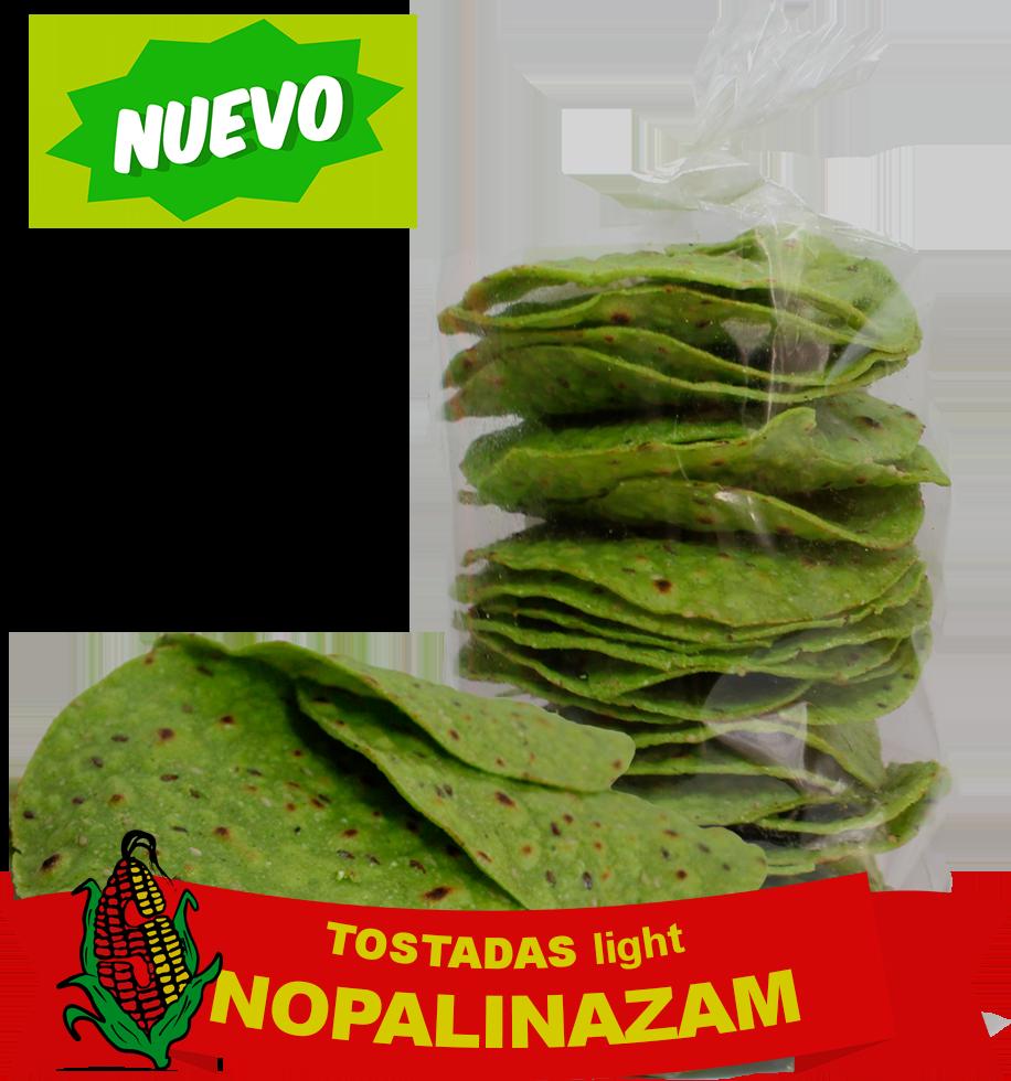 Tostada light, sin Colesterol, de Nopal con linaza y ajonjolí